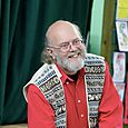 Author Gus Grenfell at Stirches Primary School, Hawick