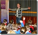 Allan Burnett reads at Hawick High School