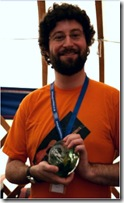 Andy Stanton receives his Book Award at Edinburgh Festival