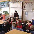 Author Rachel Bright at Denholm Primary School