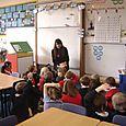 Author Rachel Bright at Denholm Primary School