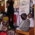 Author Rachel Bright visits Trinity Primary School Nursery Class, Hawick