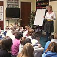 Author Tracey Alexander visits Wilton Primary School, Hawick