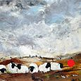 Autumn Cheviots with Caledonian Pines - SOLD