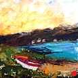 Sanna Bay with Boat - SOLD