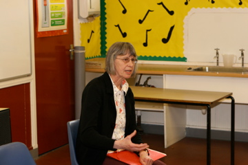 Annemarie Allan - author reading at Drumlanrig St Cuthbert's Primary School, Hawick
