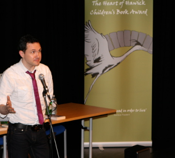 Author Alan Bissett at Heart of Hawick Children's Book Award
