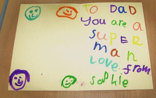 Superdad artwork at Denholm Primary School