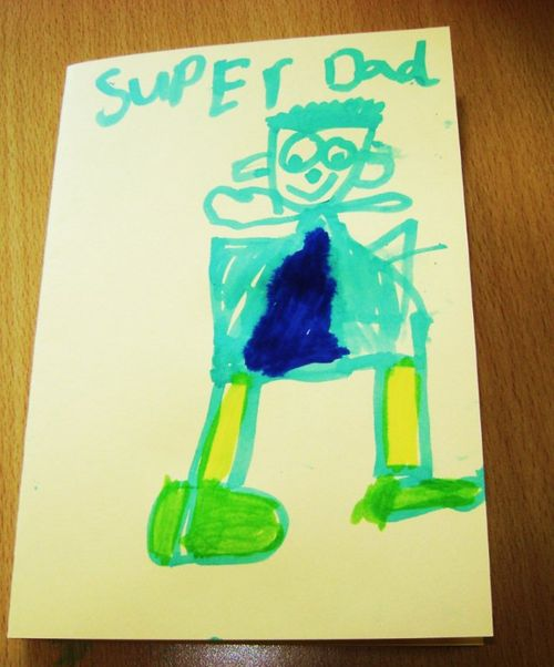 Superdad artwork at Denholm Primary School