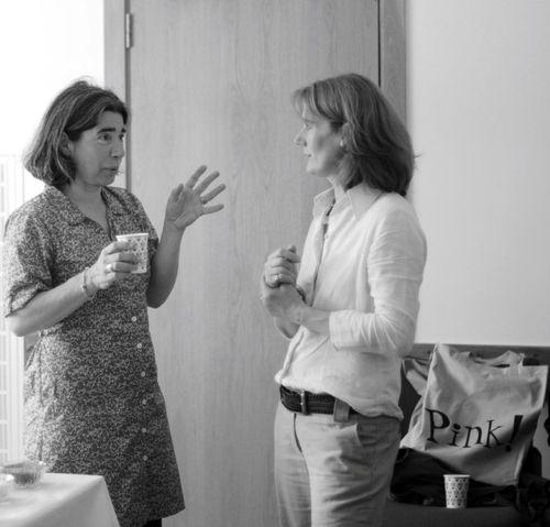 Author Debi Gliori and Vivian Bannerman from Heart of Hawick Children's Book Award