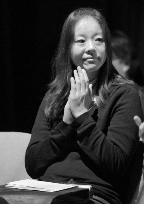 Prize-winning author Kazuno Kohara at Heart of Hawick Children's Book Award
