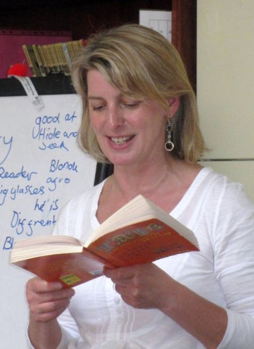 Author Tracey Alexander reads at Wilton Primary School, Hawick