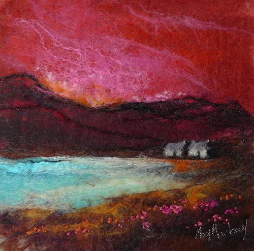 Red Sky, Fuchsia Shore