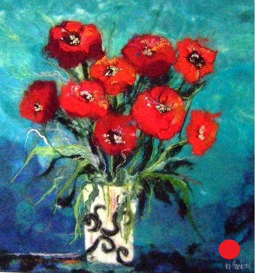Poppies in Marthas Vase - SOLD