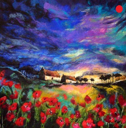 Sundown Poppies - SOLD